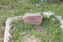 Anna Wehmeyer- First family member buried in Cemetery