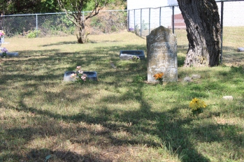 Small cemertery next to large cemetery