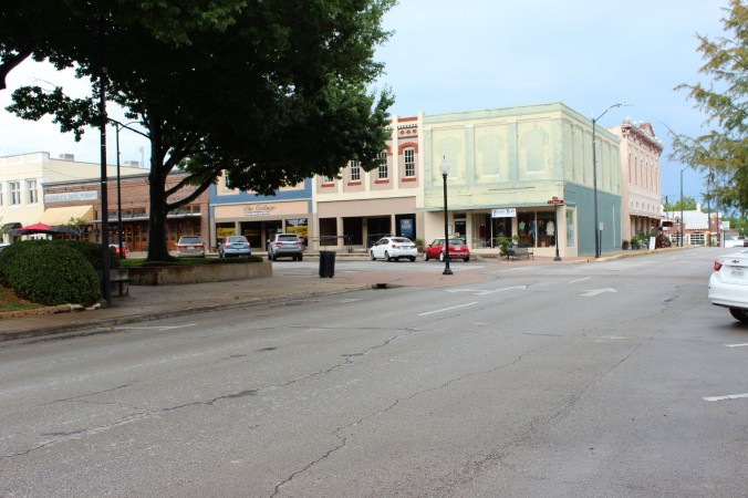 Street in front of Commissioners court