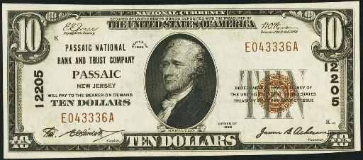 1929 ten dollar-type 1