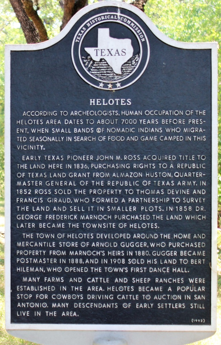 Helotes Helotes Texas Historical Marker Vagabond